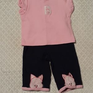 Baby works 3-6 month short sleeve outfit